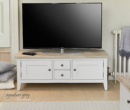 Signature Grey Widescreen TV Stand