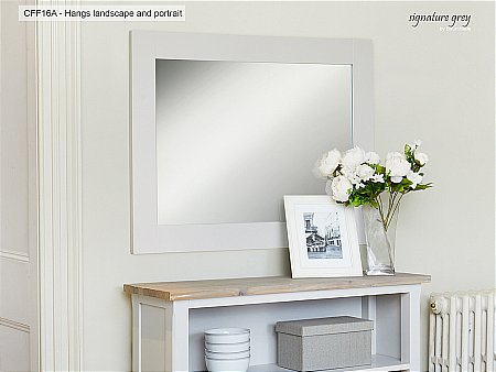 Signature Grey Overmantle Mirror