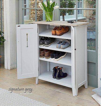 Signature Grey Shoe Storage Cupboard
