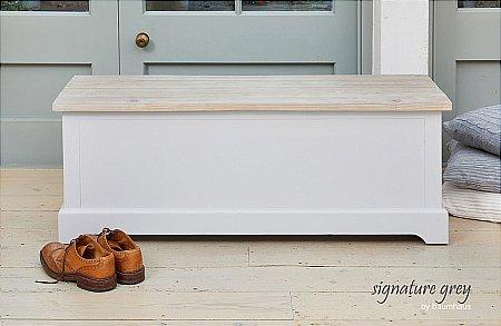 Signature Grey Hallway Storage Bench