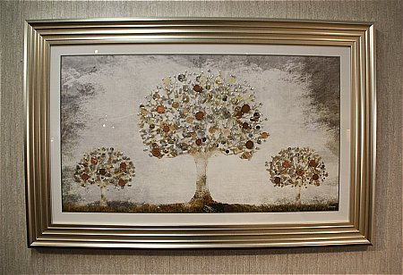 Bronze Money Tree Print and Frame