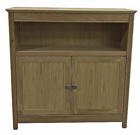 Beaumont 90cm Wide Solid Top Bookcase with Doors