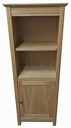 Beaumont 60cm Wide Solid Top Bookcase with Doors