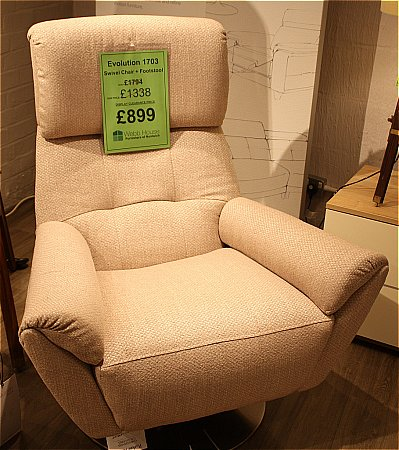 Evolution Swivel Chair and Footstool