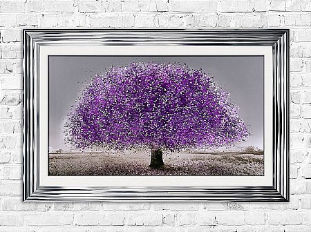 UV Blossom Tree Print and Frame