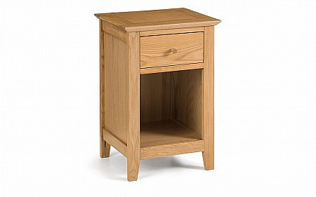 Salerno Oak 1 Drawer Bedside Cabinet