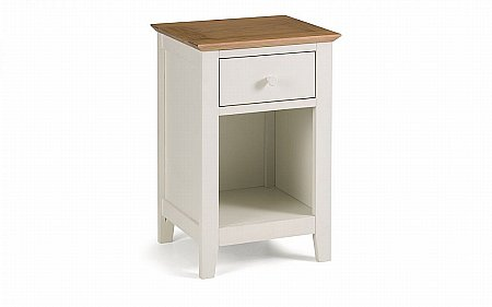 Salerno Two Tone 1 Drawer Bedside Cabinet