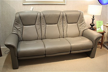 Lux 3 Seater Leather Sofa with Leg Comfort