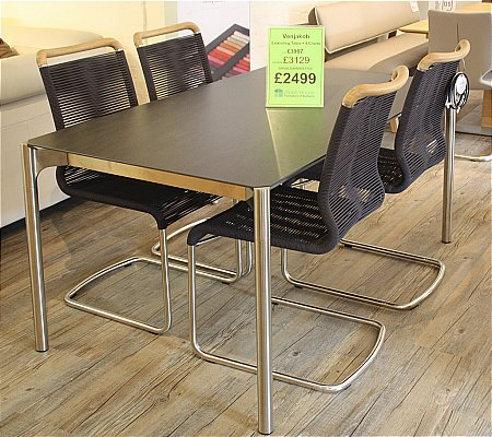 Mio Extending Dining Table and 4 Chairs
