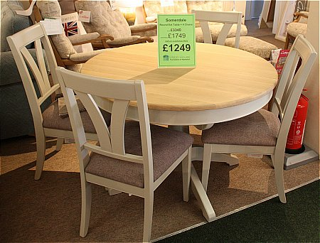 Somerdale Round Extending Table and 4 Chairs
