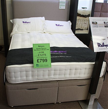 Kingston Double Ottoman, Bed Base and Headboard