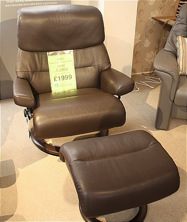 Capri Swivel Chair and Footstool