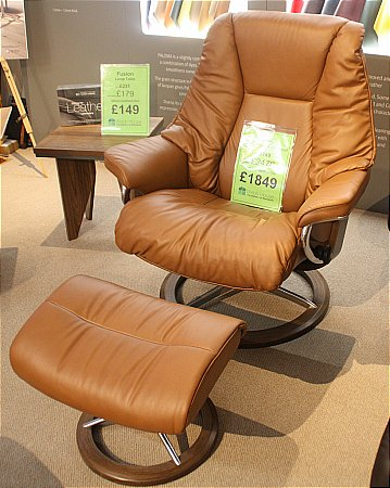 Live Swivel Chair and Footstool