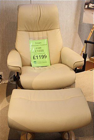 Crown Swivel Chair and Footstool