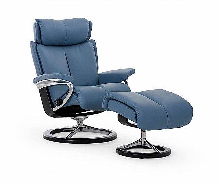 Magic Medium Swivel Chair and Footstool Signature Base