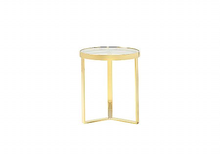 Wells Gold Lamp Table