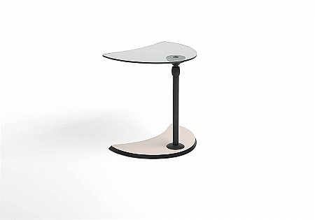 Alpha Side Table Glass Wood Top