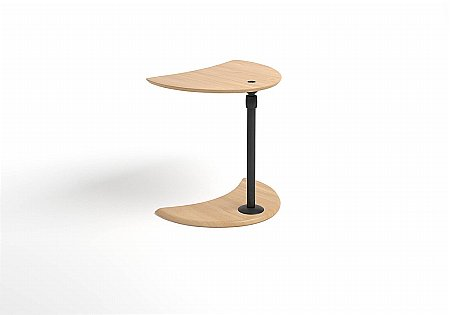 Alpha Side Table Wood Top