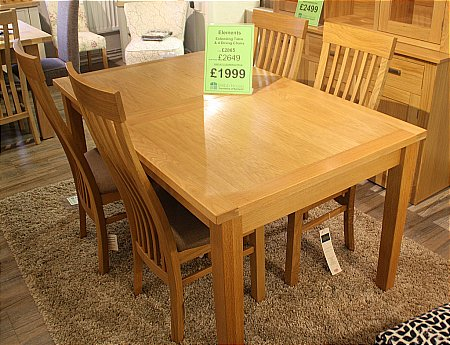 Elements Extending Dining Table and 4 Chairs