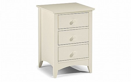 Cameo 3 Drawer Bedside Cabinet