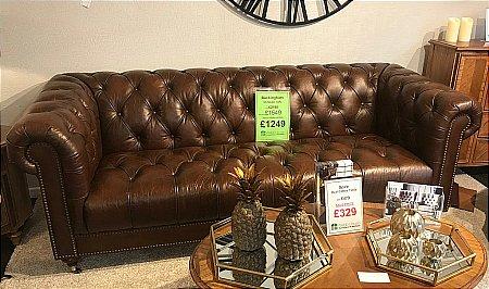 Buckingham 3.5 Seater Leather Sofa