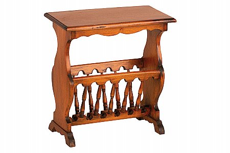 Mahogany Village Magazine Rack