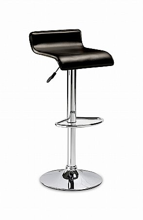 Stratos Black Bar Stool