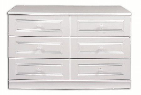 Vale Furnishers - Regatta Six Drawer Wide Chest. Click for larger image.