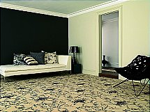 Brintons - Classic Florals Toile Empire Black Broadloom