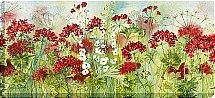 Artko - Geranium Sunburst Canvas