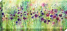 Artko - Spring Floral Pods Panel Canvas