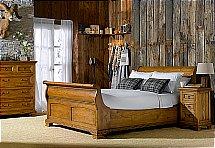 Frank Hudson - Vintage Provencale Sleigh Bed
