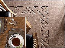 Bronte Carpets - Embossed Border - Fleur-De-Lys