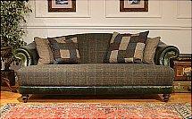 Tetrad - Harris Tweed - Taransay Leather Sofa