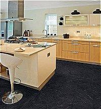 Vusta - Polished Black Slate Floor