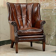 Contrast - Beardsley Leather Chair