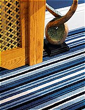 Adam Carpets - Castlemead Velvet Stripe High Seas Carpet
