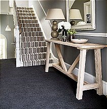 Brockway Carpets - Dimensions Heathers Stripe and Black Magic