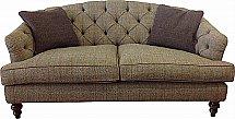 Tetrad - Dalmore Harris Tweed - Leather Midi Sofa