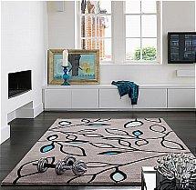 Asiatic Carpets - Laya Leaf Blue Rug