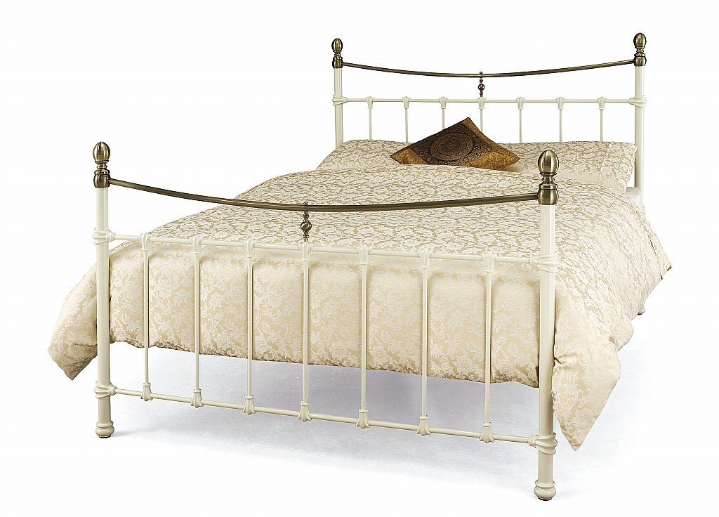 Serene - Edwardian II Bedstead in Ivory with Antique Bronze