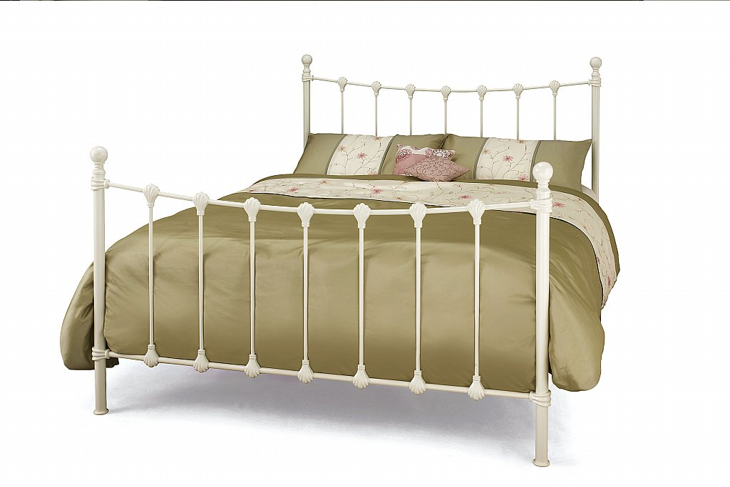Serene - Marseilles Bedstead in Ivory Gloss