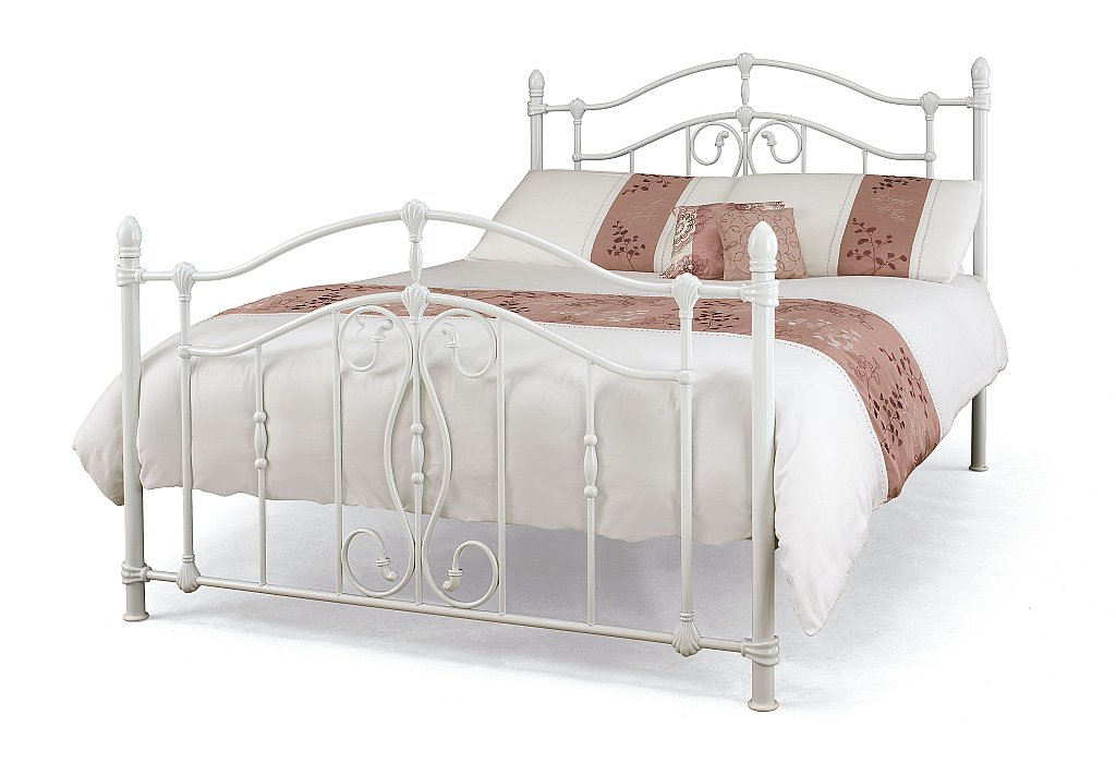 Serene - Nice Bedstead in White Gloss