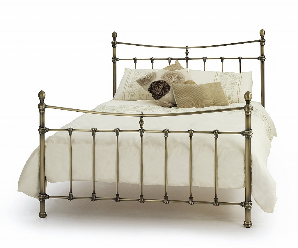 Serene - Olivia Bedstead in Antique Brass