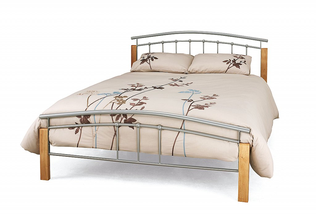 Serene - Tetras Bedstead in Silver and Beech
