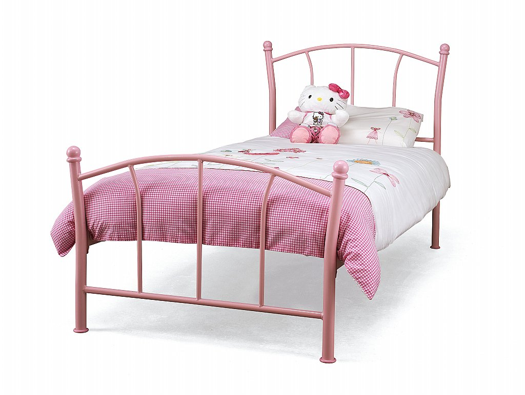 Serene - Penny Bedstead in Pink Gloss