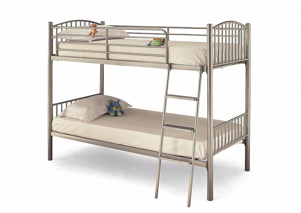 Serene - Oslo Twin Bunk Bed in Silver