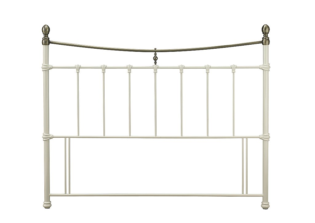 Serene - Edwardian II Headboard in Ivory with Antique Bronze