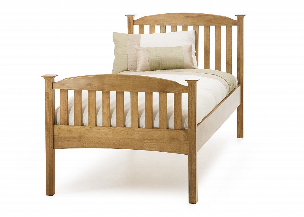 Serene - Eleanor Single High Foot Bedstead in Honey Oak