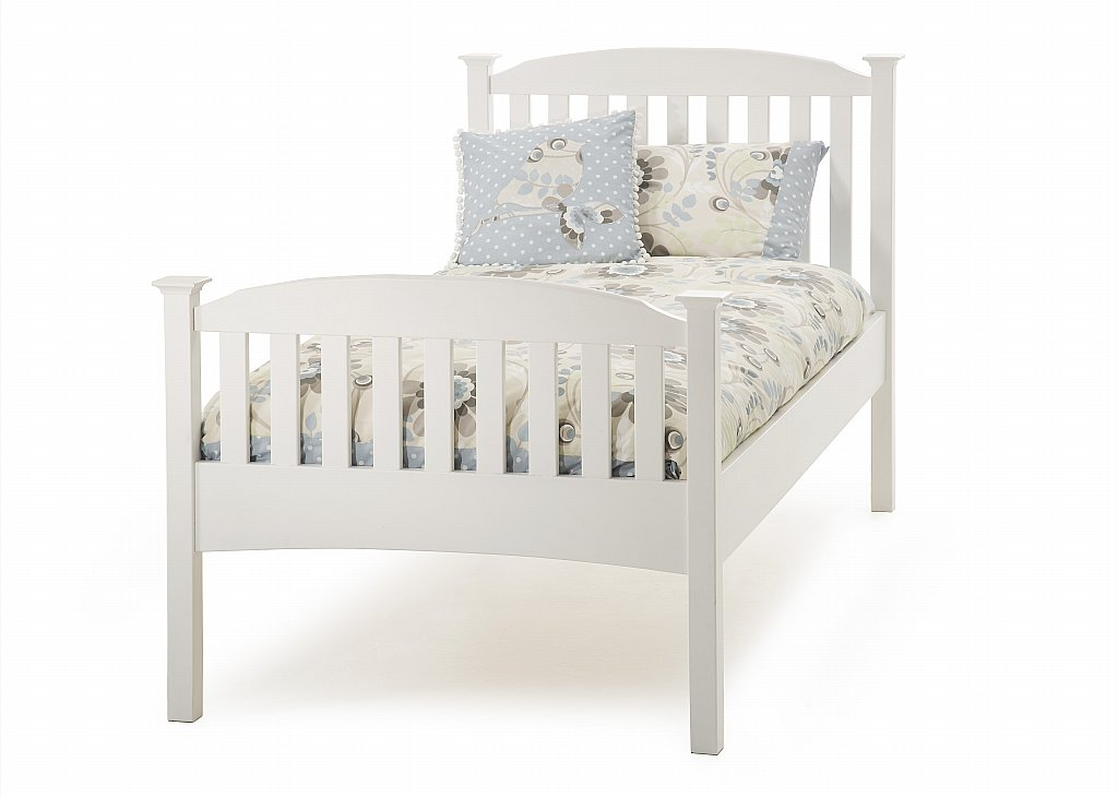 Serene - Eleanor Single High Foot Bedstead in Opal White